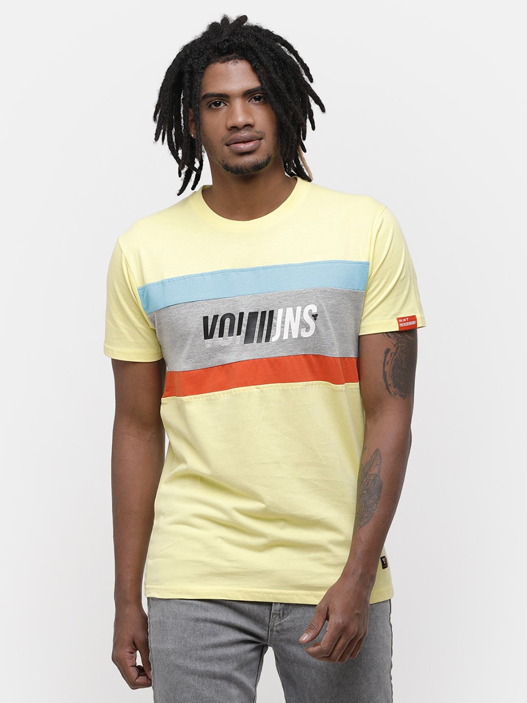 Voi Jeans | Yellow T-Shirts (VOTS1423)