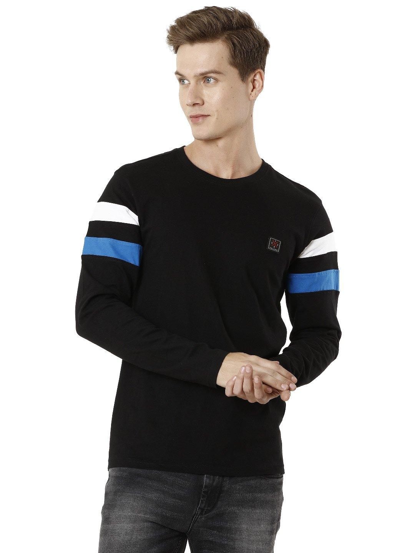 Voi Jeans | Black T-Shirts (VOTS1446)