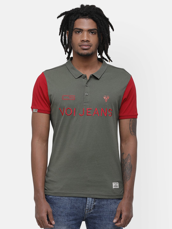 Voi Jeans | Green T-Shirts (VOTS1451)
