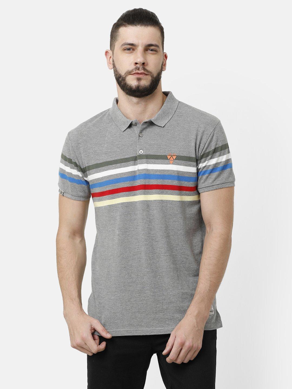Voi Jeans | Grey T-Shirts (VOTS1456)