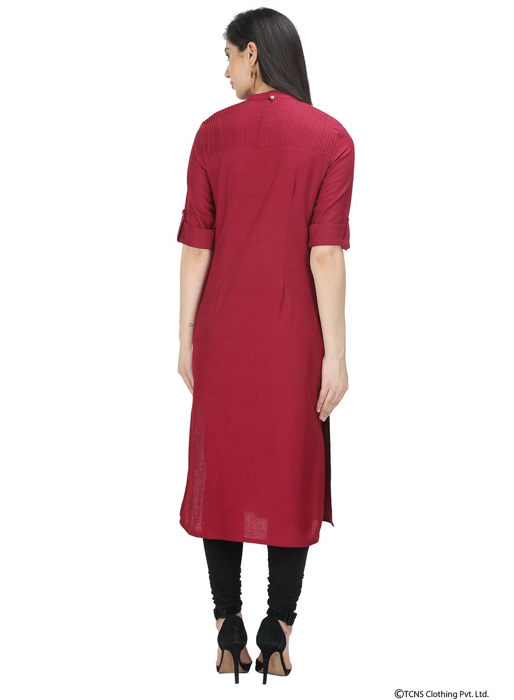 W | W Women Red Color Kurta