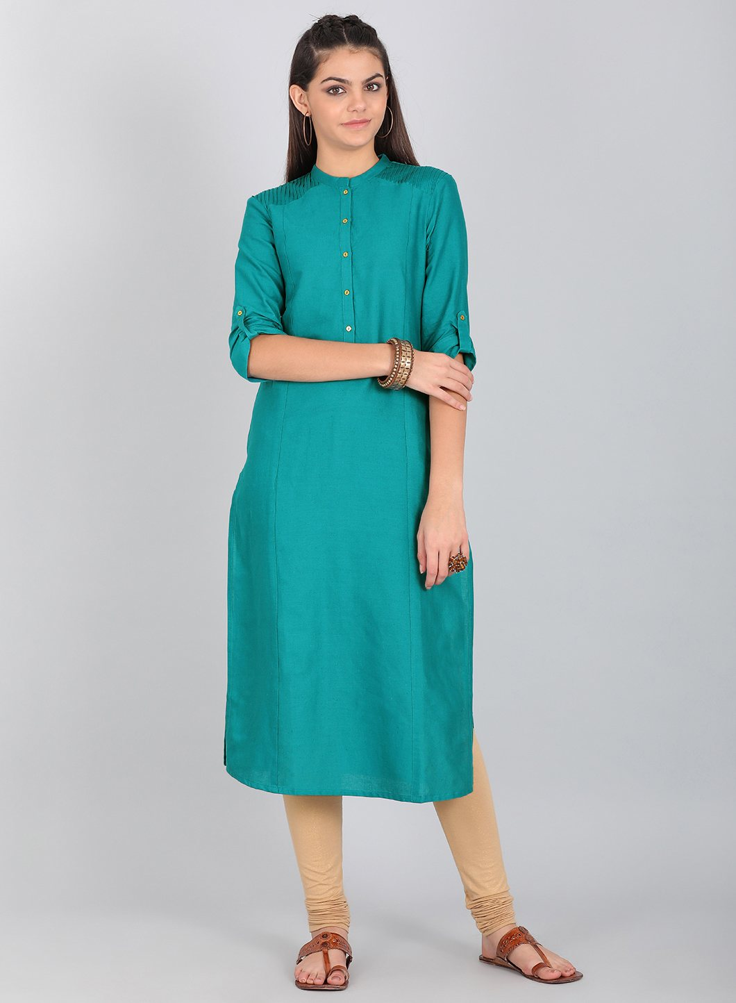 W | W Women Green Color Kurta