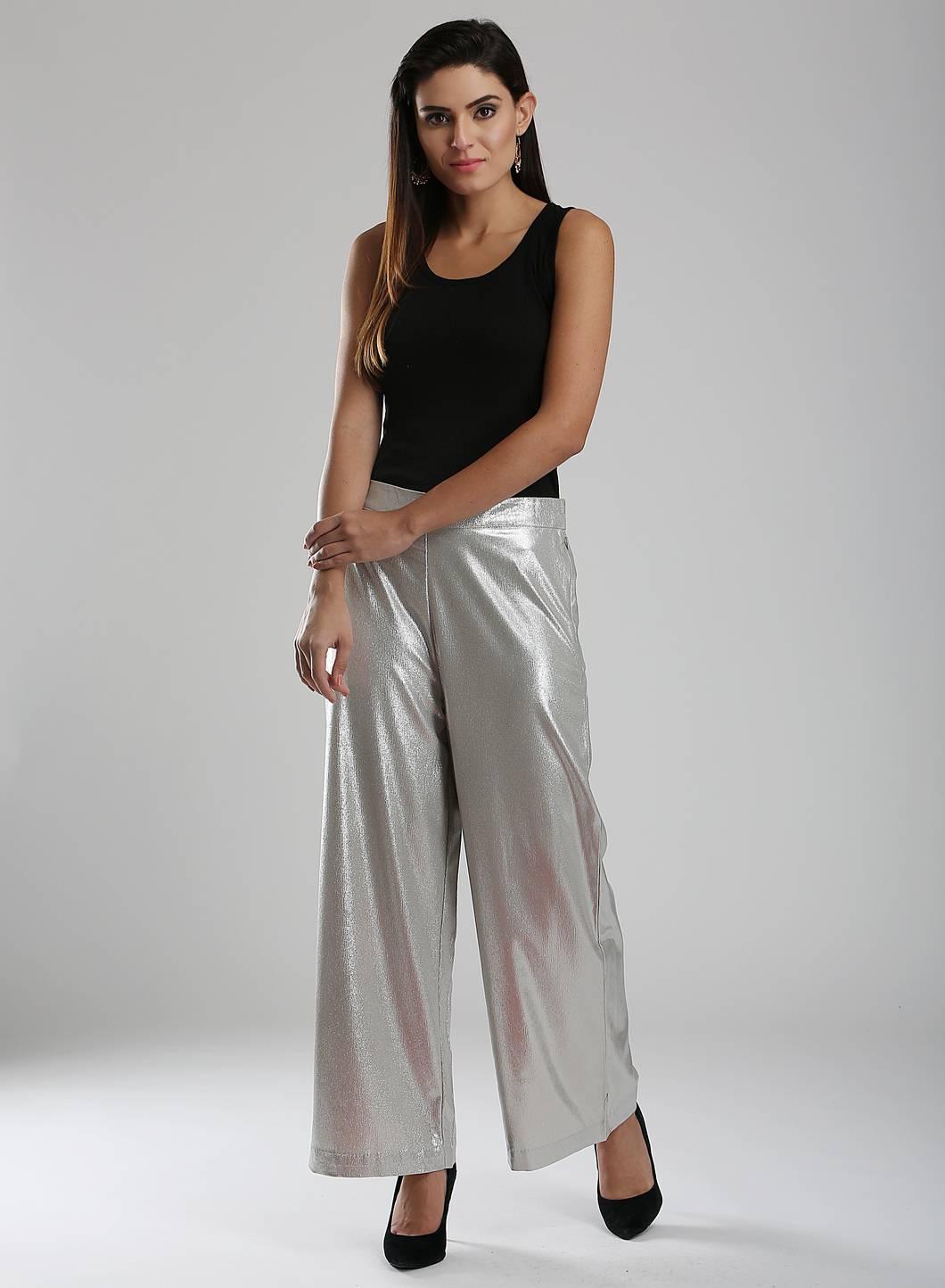 W | W Women Silver Color Pants