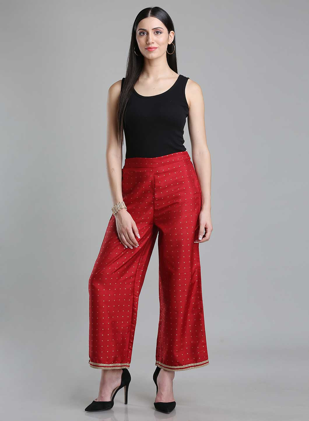 W | W Women Red Color Pants