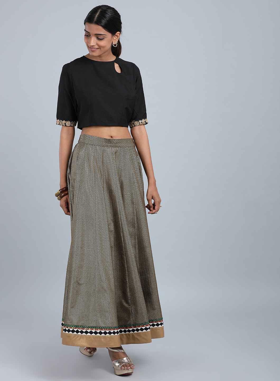 W   Wishful by W-Women Black Color Skirt
