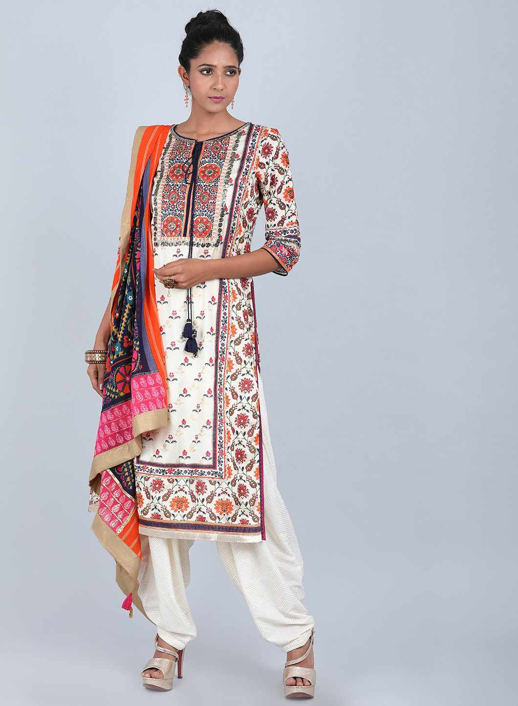 W | Wishful by W-Women White Color Salwar