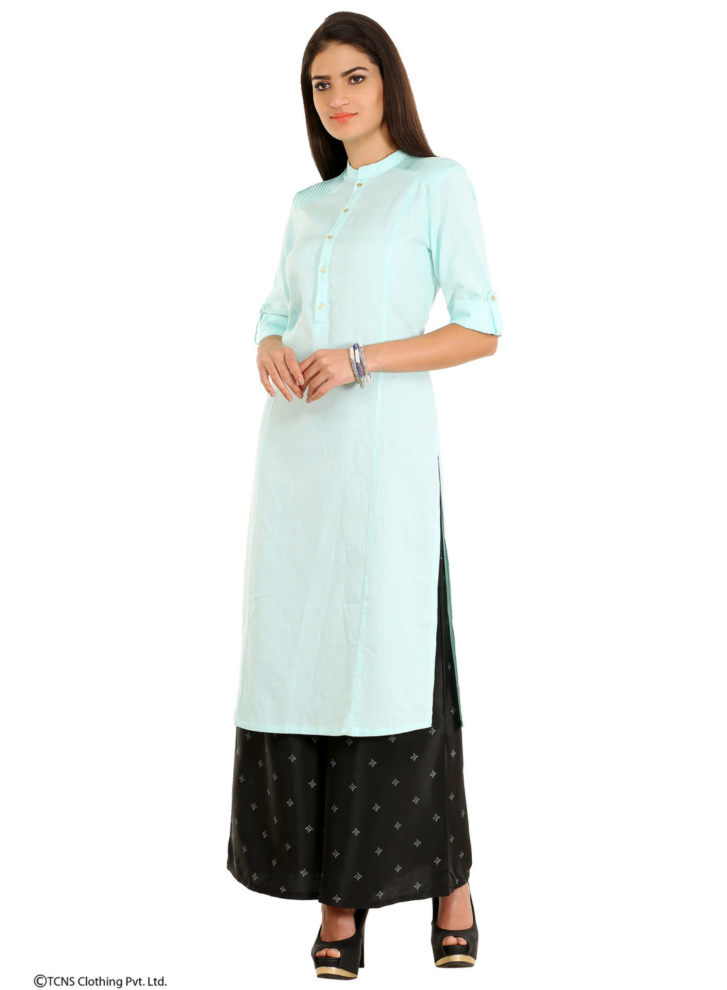 W | W Women Blue Color Kurta
