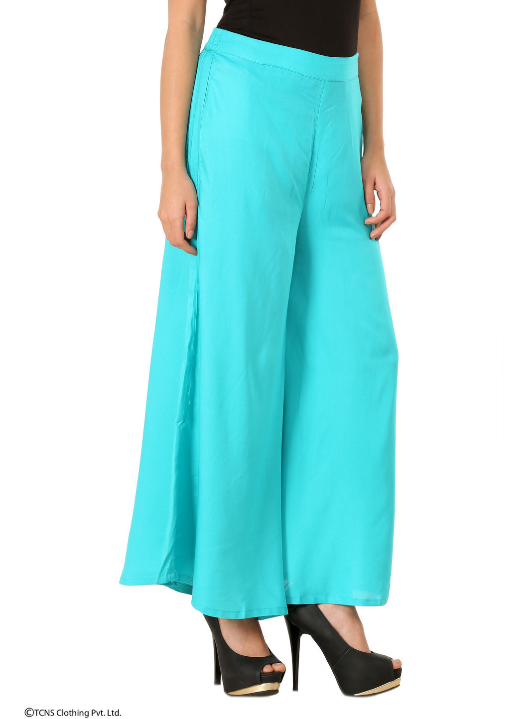 W | W Women Green Color Cullotes
