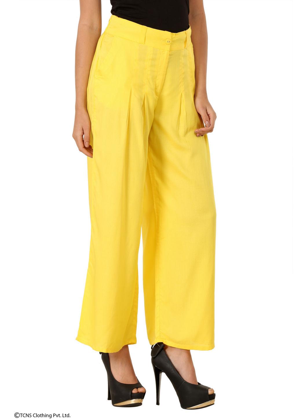 W | W Women Yellow Color Pants