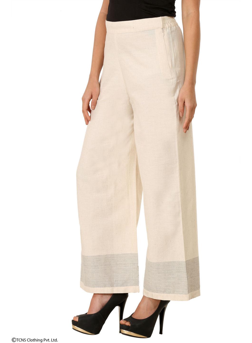 W | W Women White Color Cullotes