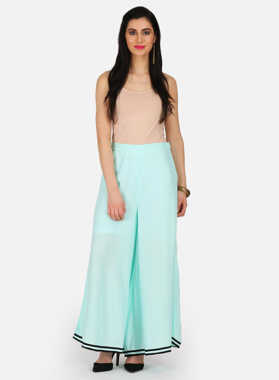W | W Women Blue Color Cullotes
