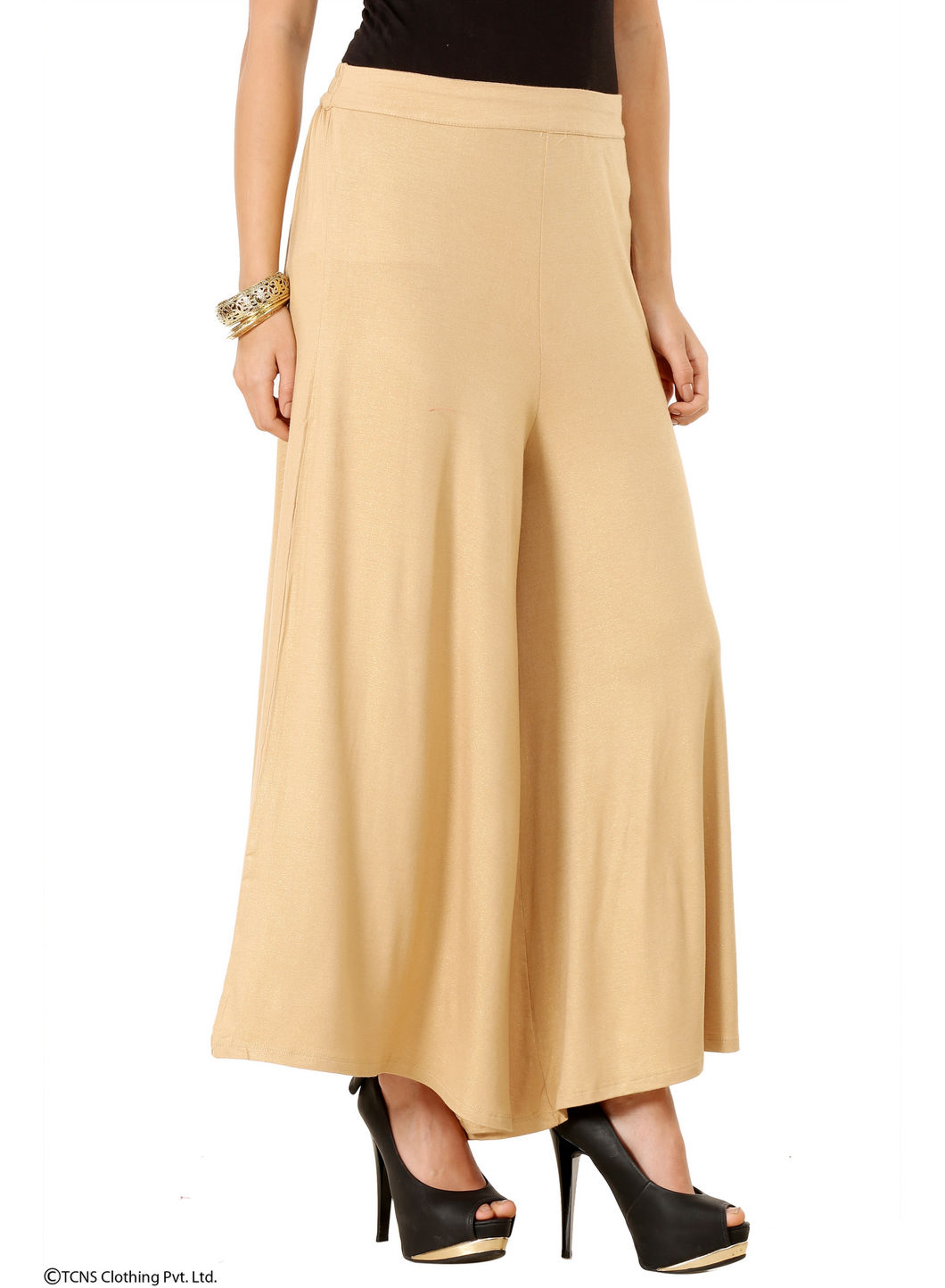 W   W Women Gold Color Cullotes