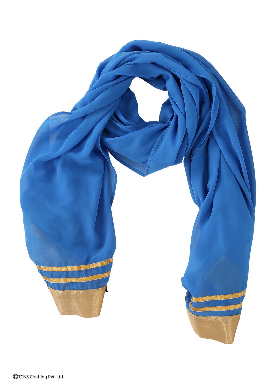 W   Wishful by W-Women Blue Color Dupatta