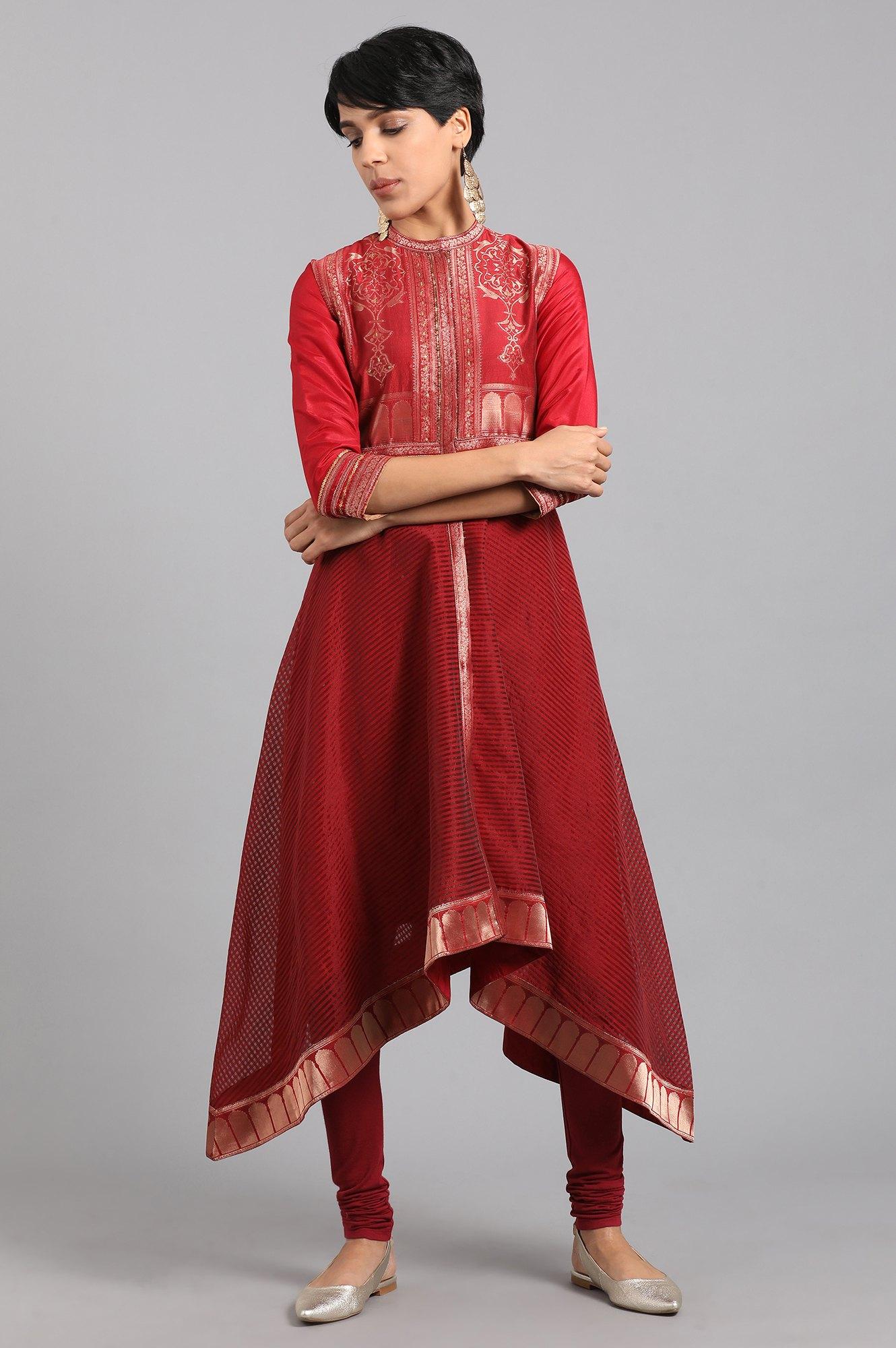 W   Wishful by W-Women Red Color Kurta