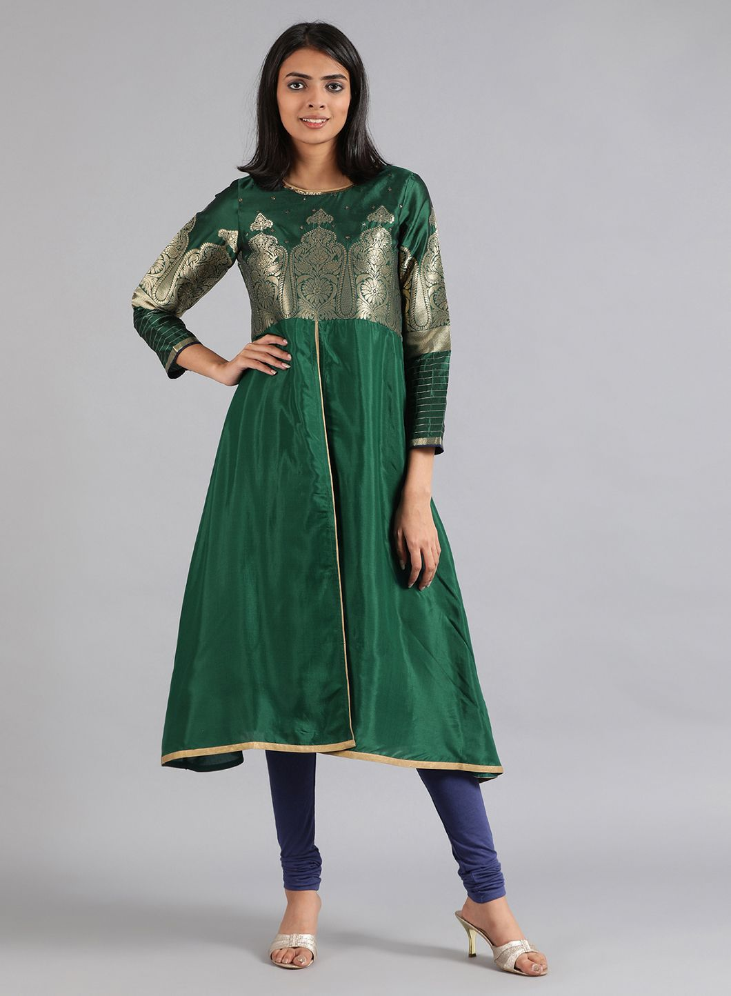W | Wishful by W-Women Green Color Kurta