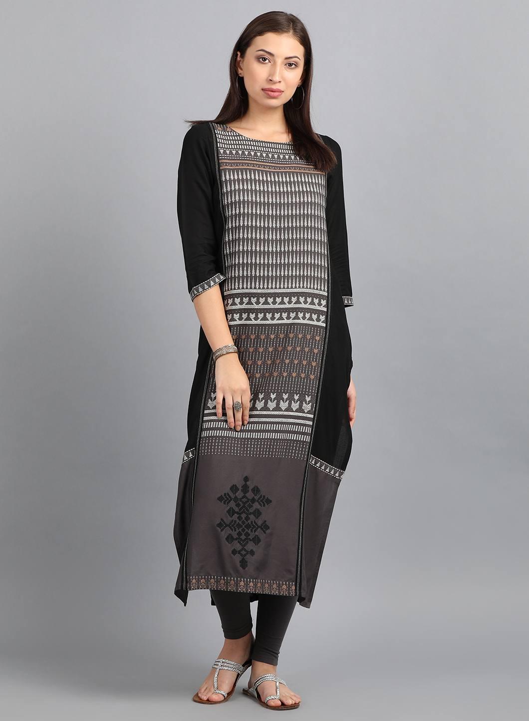 W | W Women Grey Color Kurta