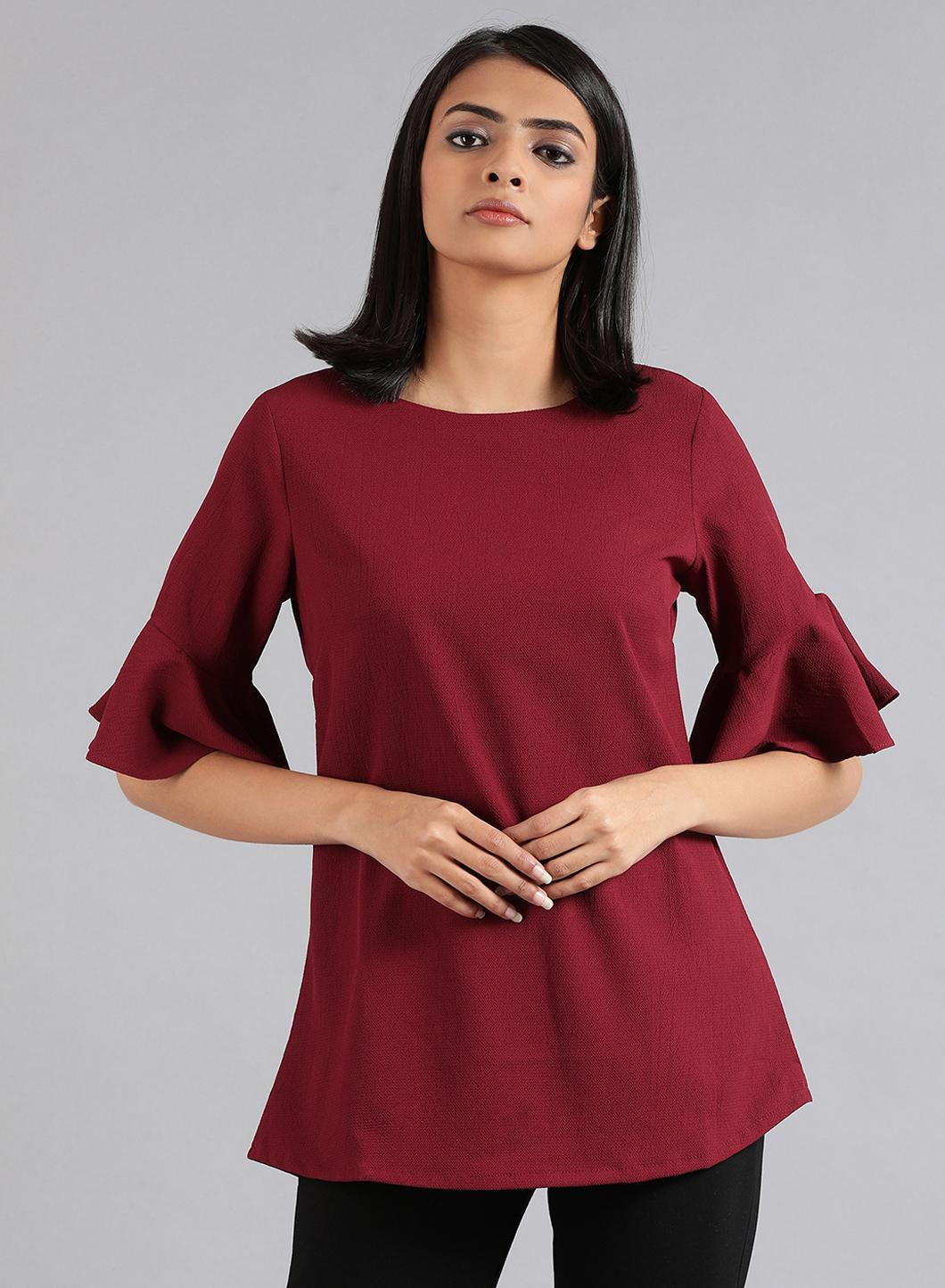 W   W Women Red Color Top