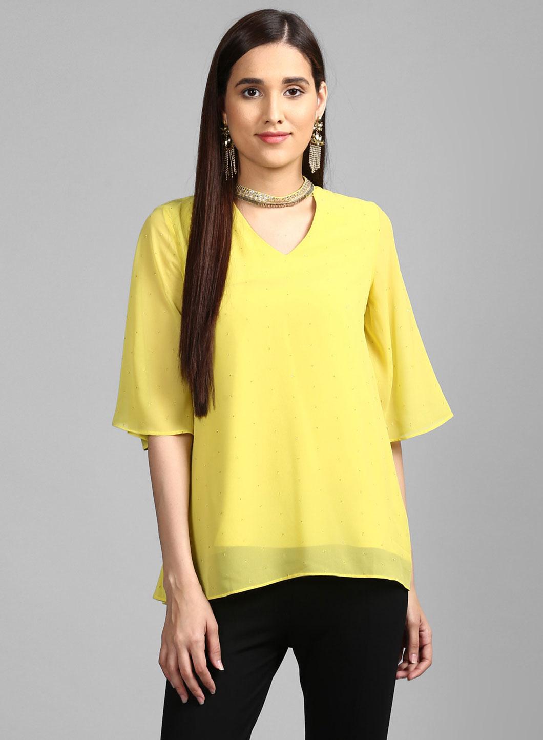 W | W Women Green Color Top