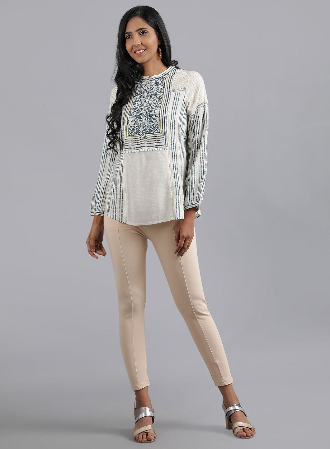 W | W Women Blue Color Bottomwear