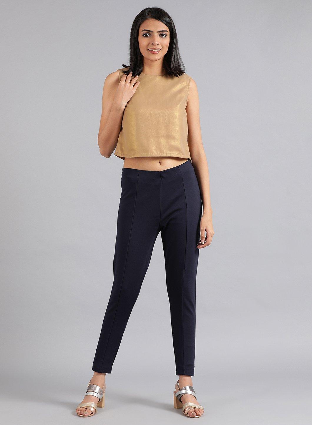 W | W Women White Color Bottomwear