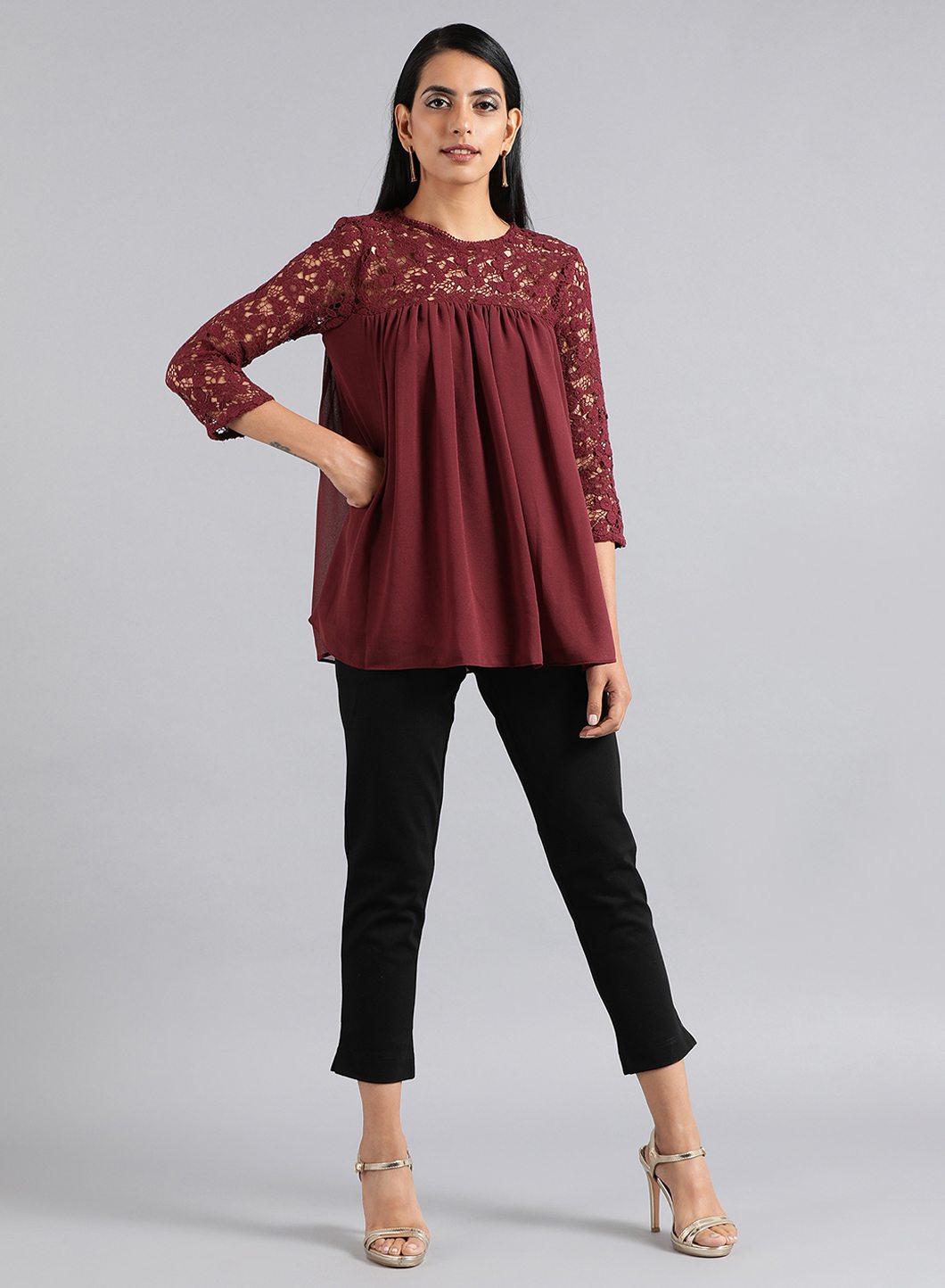 W | W Women Black Color Bottomwear
