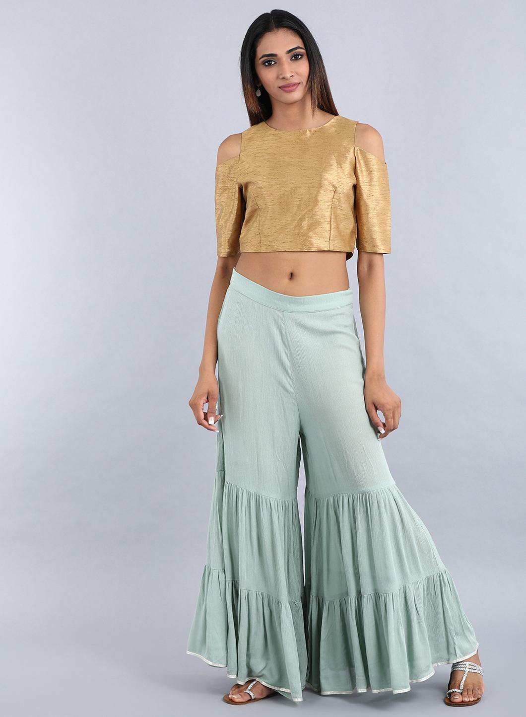 W | W Women Green Color Sharara