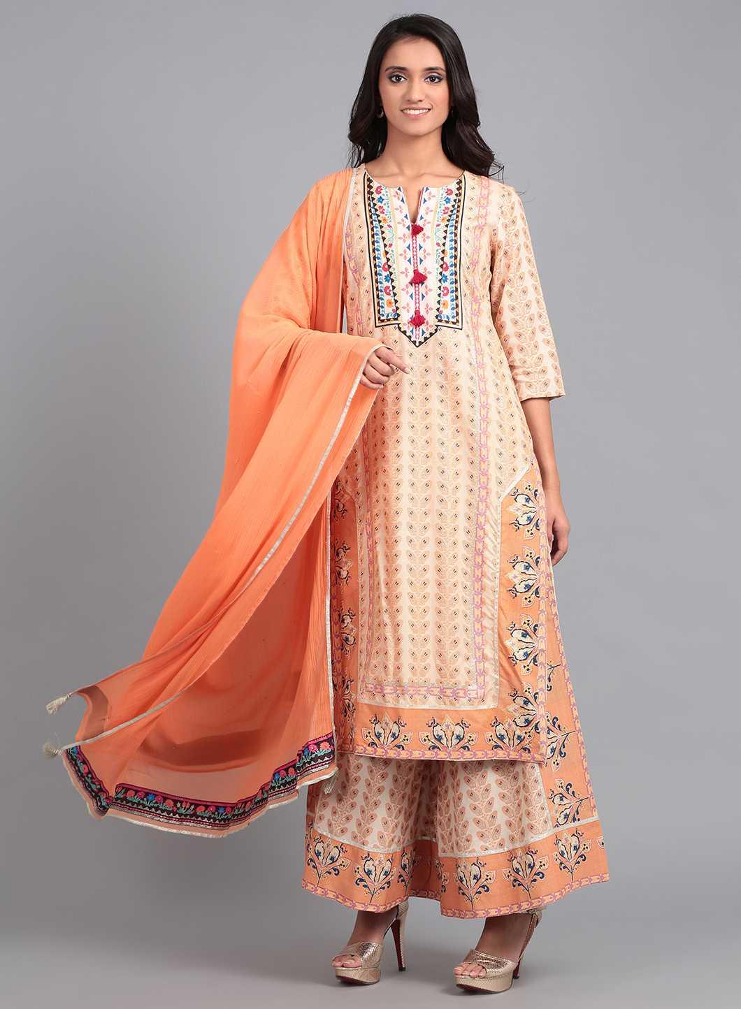 W   W Women Orange Color Dupatta