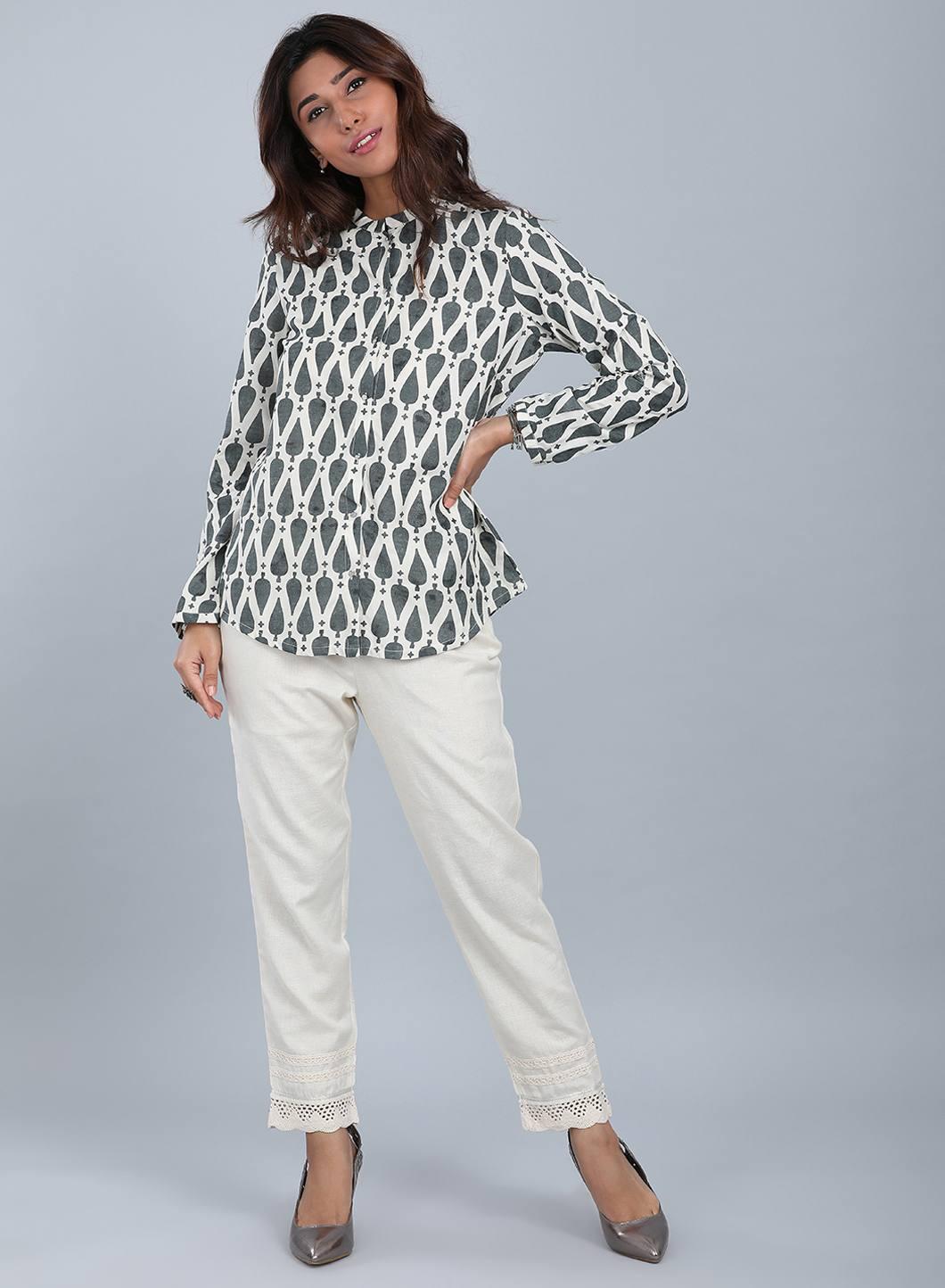 W | W Women Grey Color Top