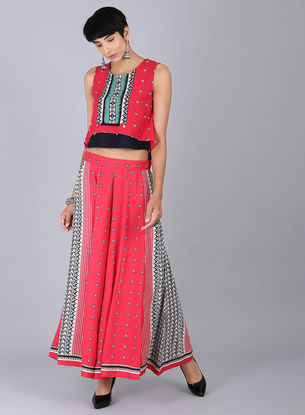 W | W Women Pink Color Top