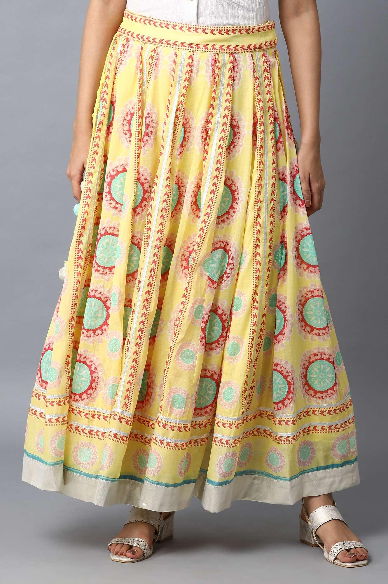 W | W Women Multi Color Skirt