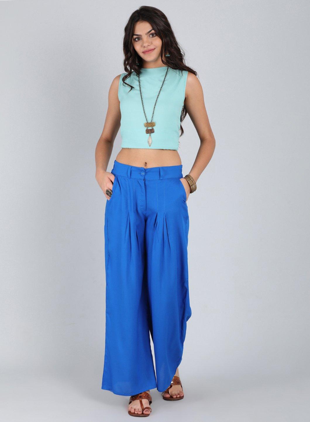 W | W Women Blue Color Pants