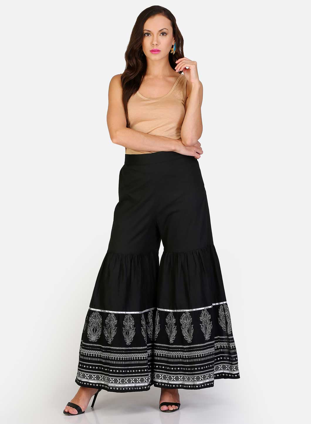 W | W Women Black Color Sharara
