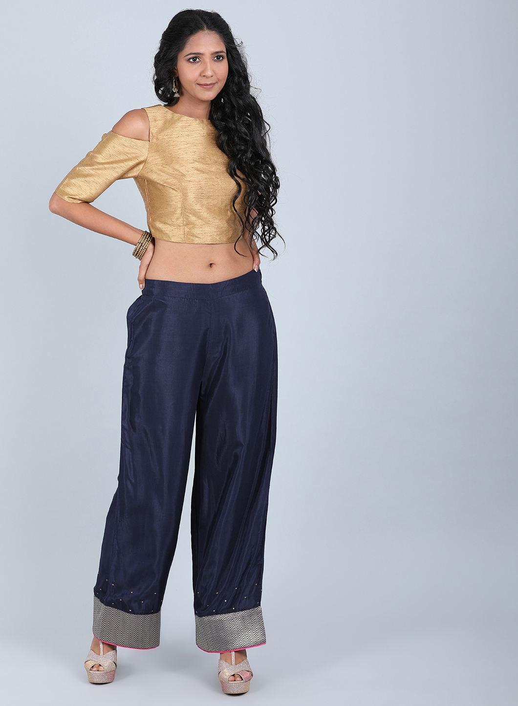 W | Wishful by W-Women Blue Color Pants