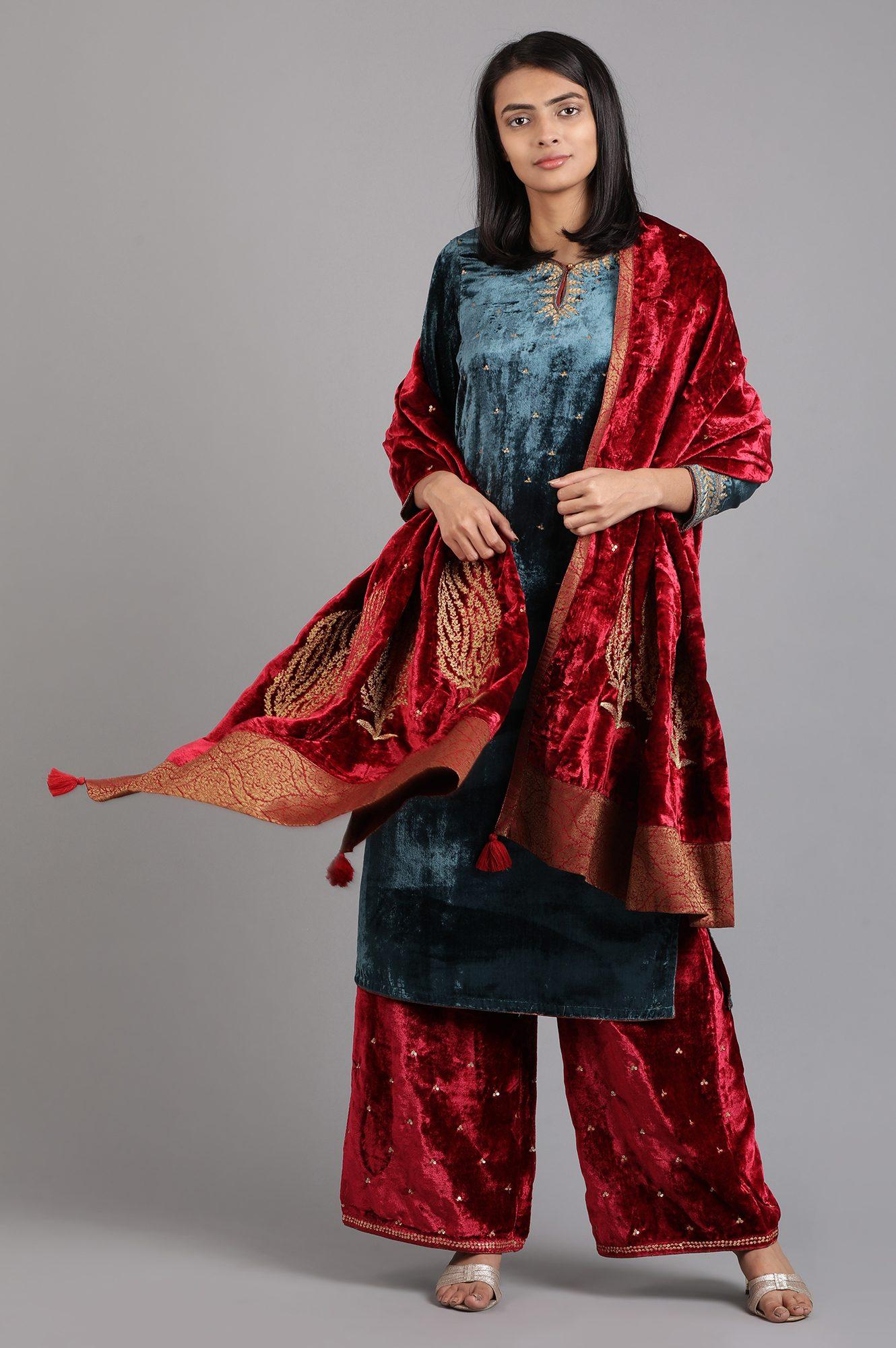 W | Wishful by W-Women Red Color Bottomwear