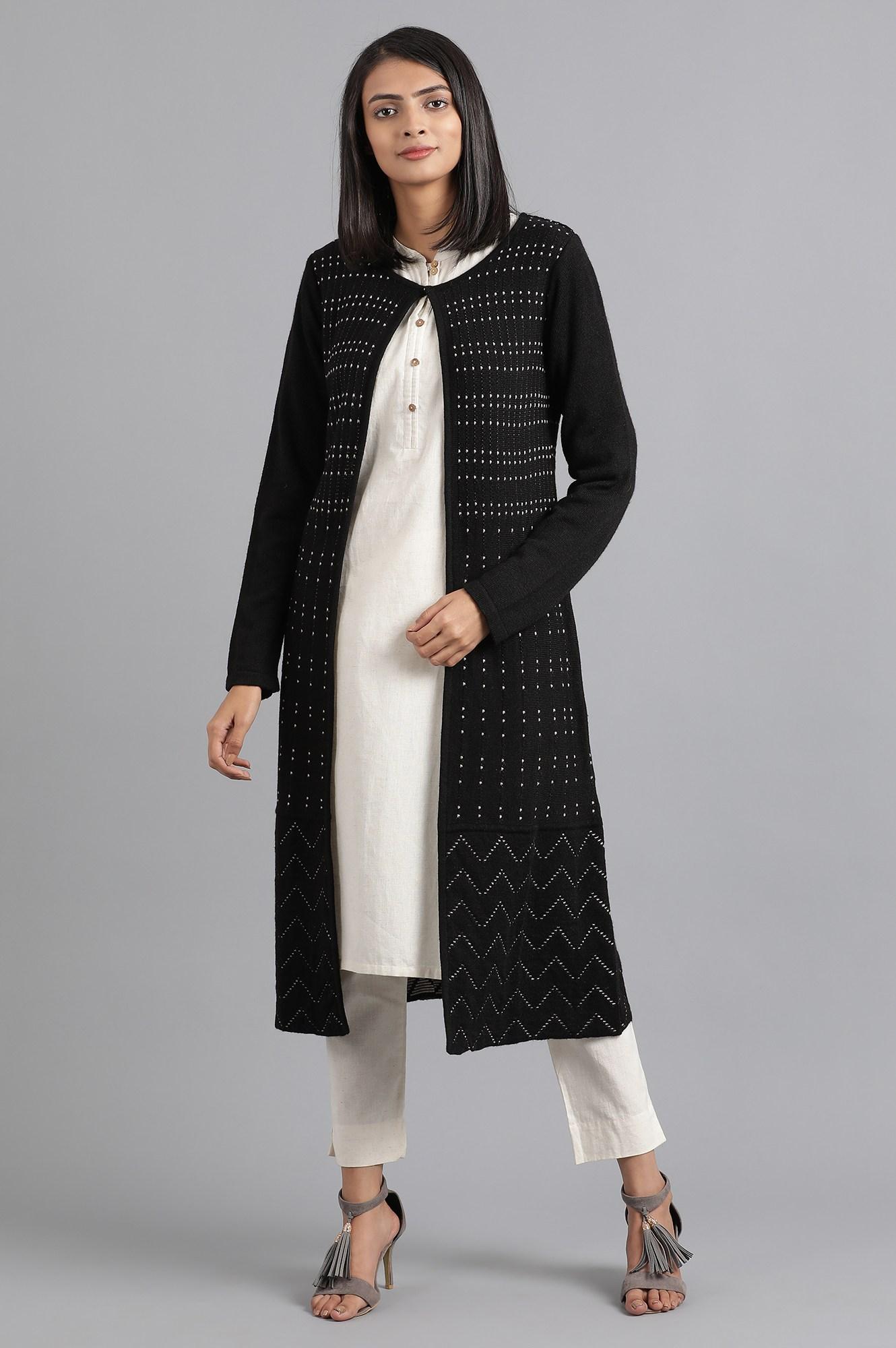 W | W Women Black Color Outerwear