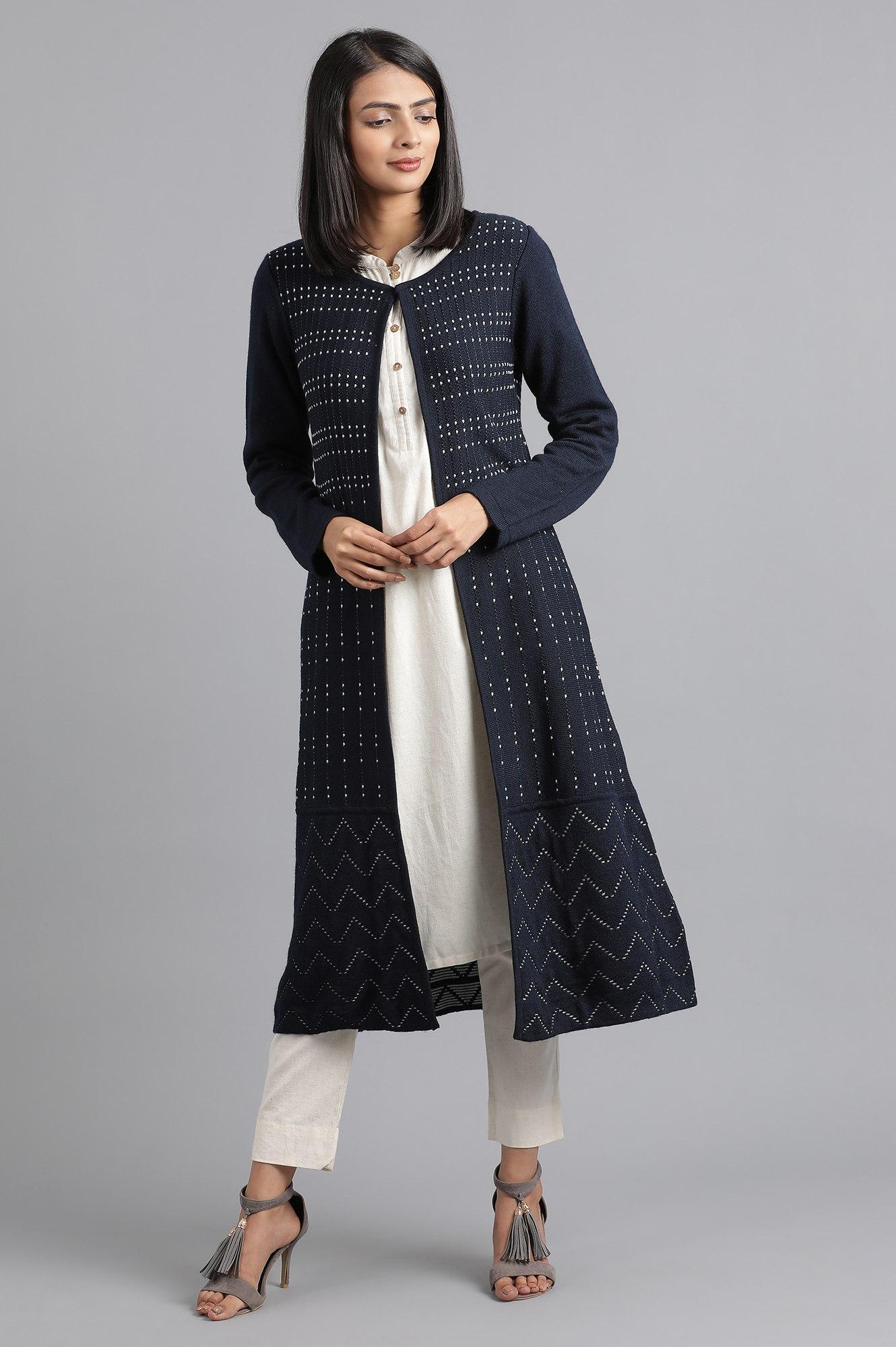 W | W Women Blue Color Outerwear