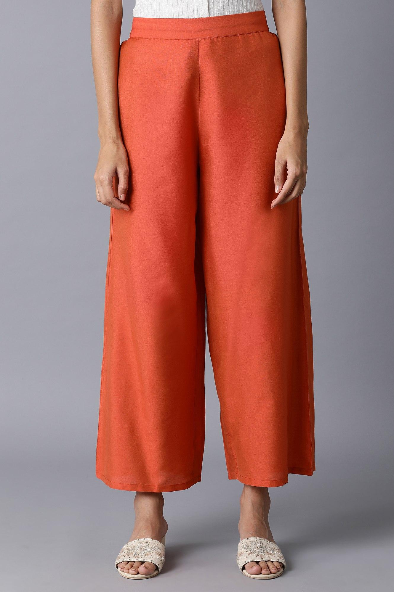 W | Orange Parallel Pants