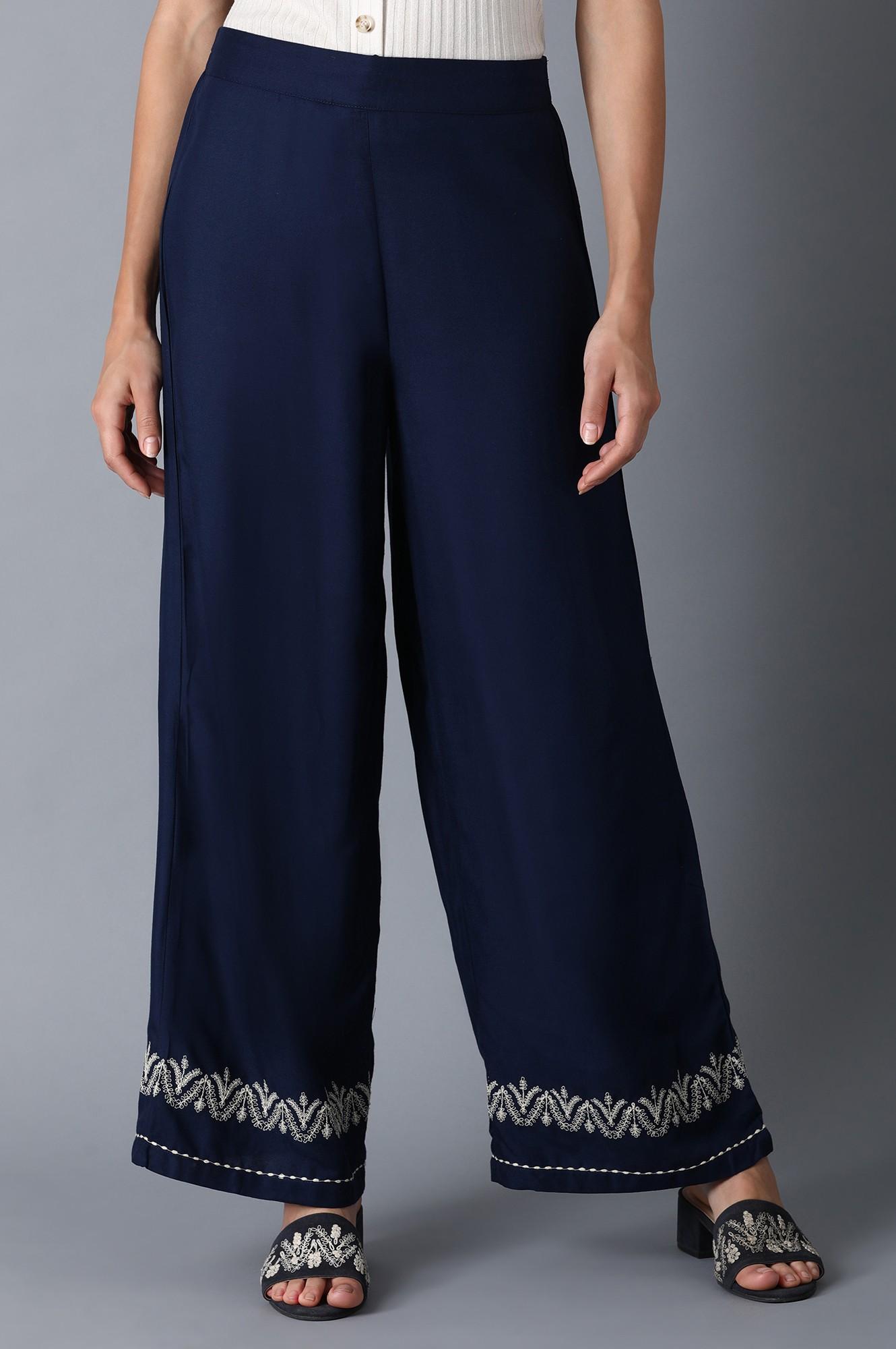 W | Navy Blue Parallel Pants