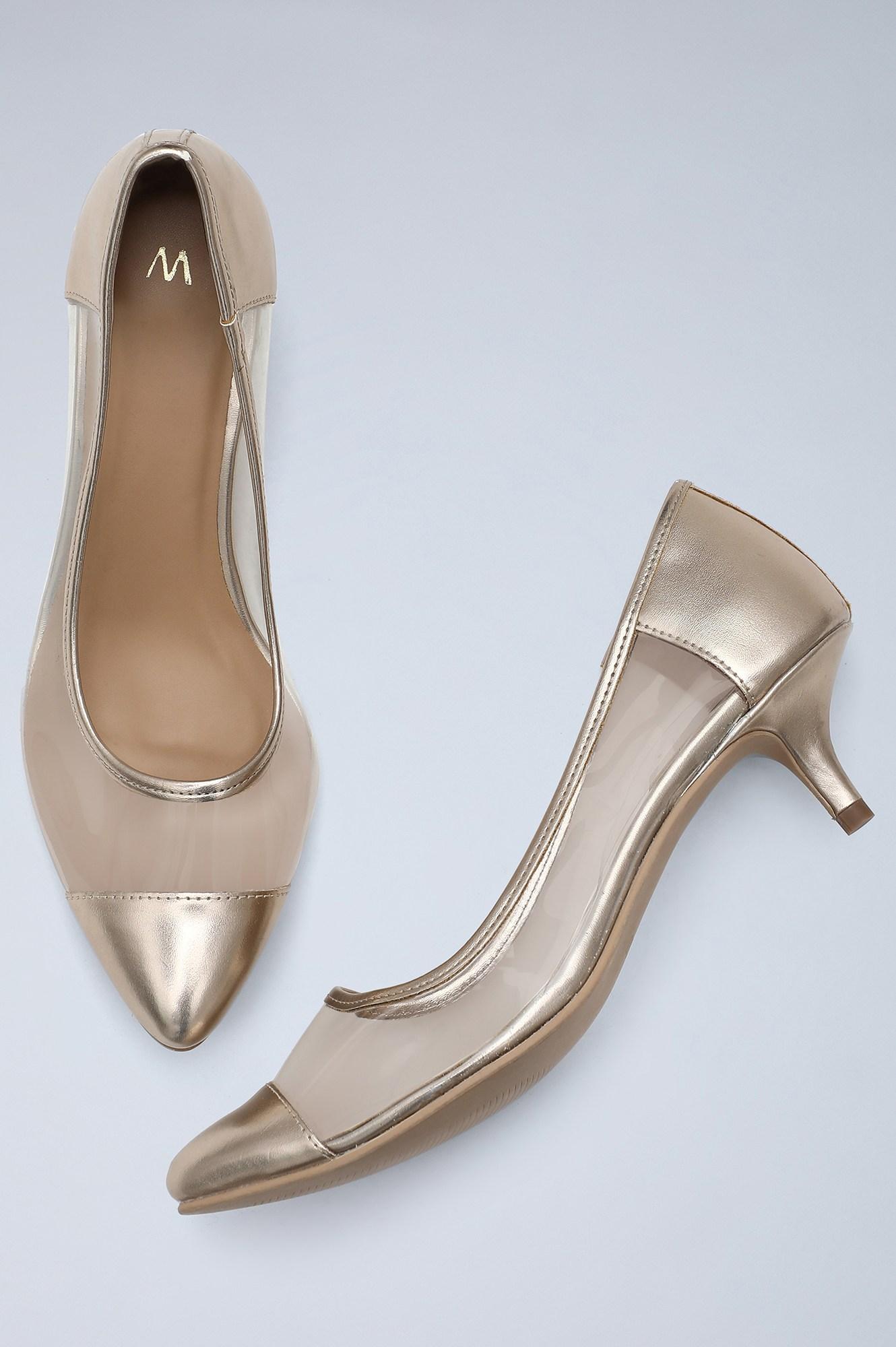 W | Pointed Toe Solid Kitten Heel