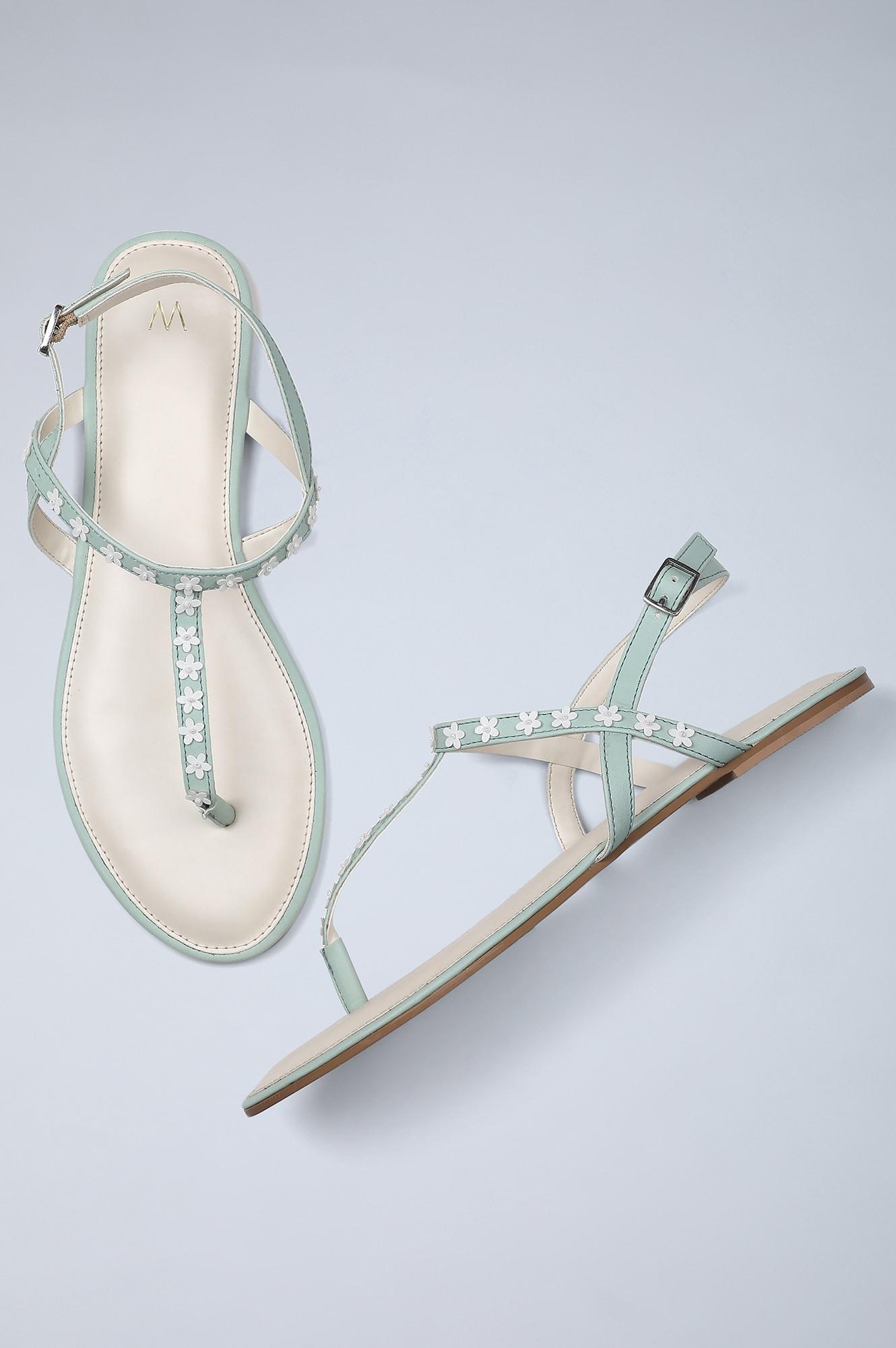 W | Almond Toe Embellished Flat