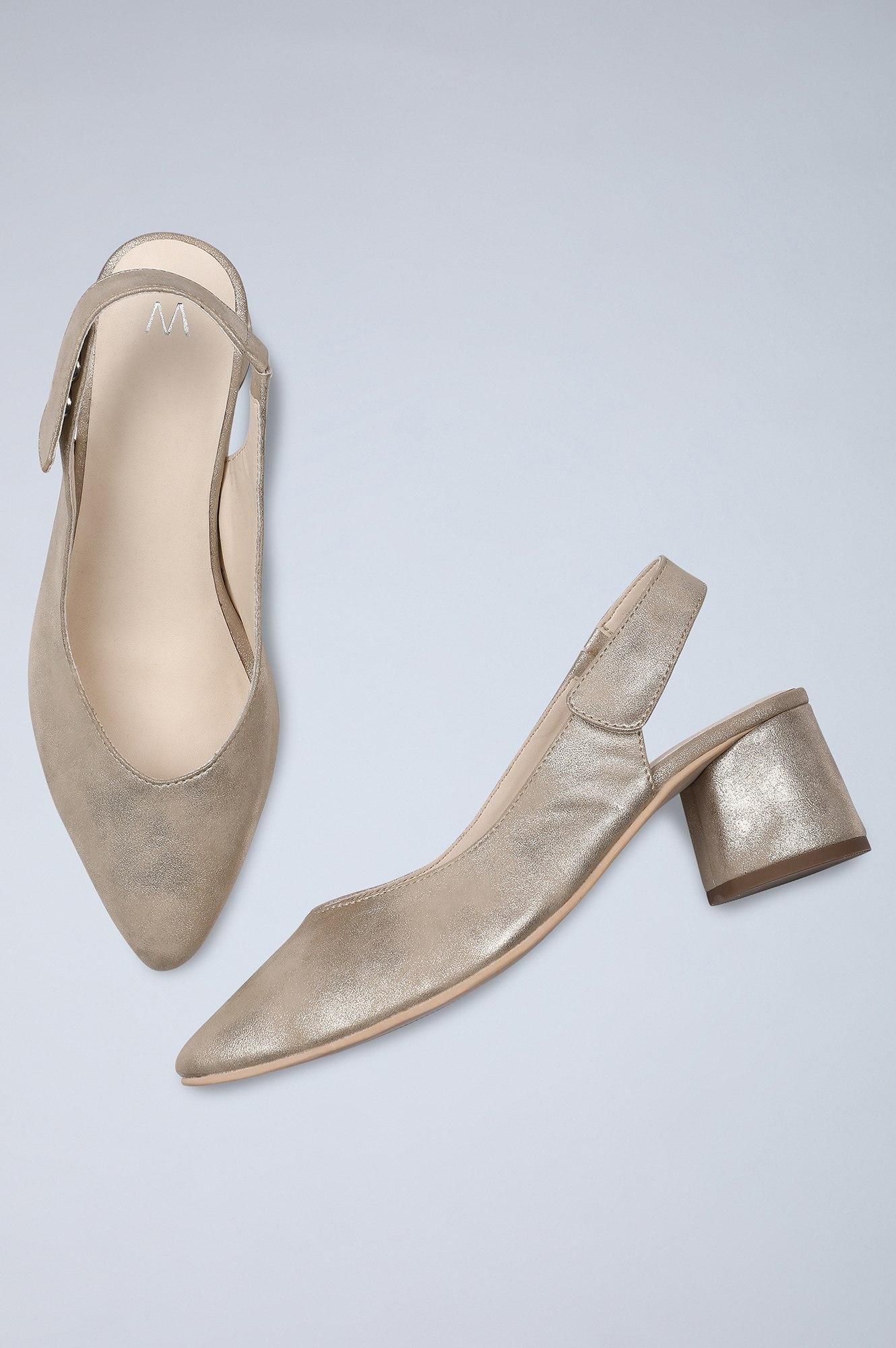 W | Pointed Toe Solid Block Heel