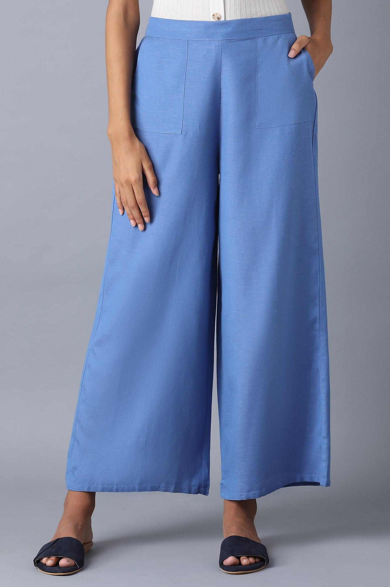 W   Blue Parallel Pants