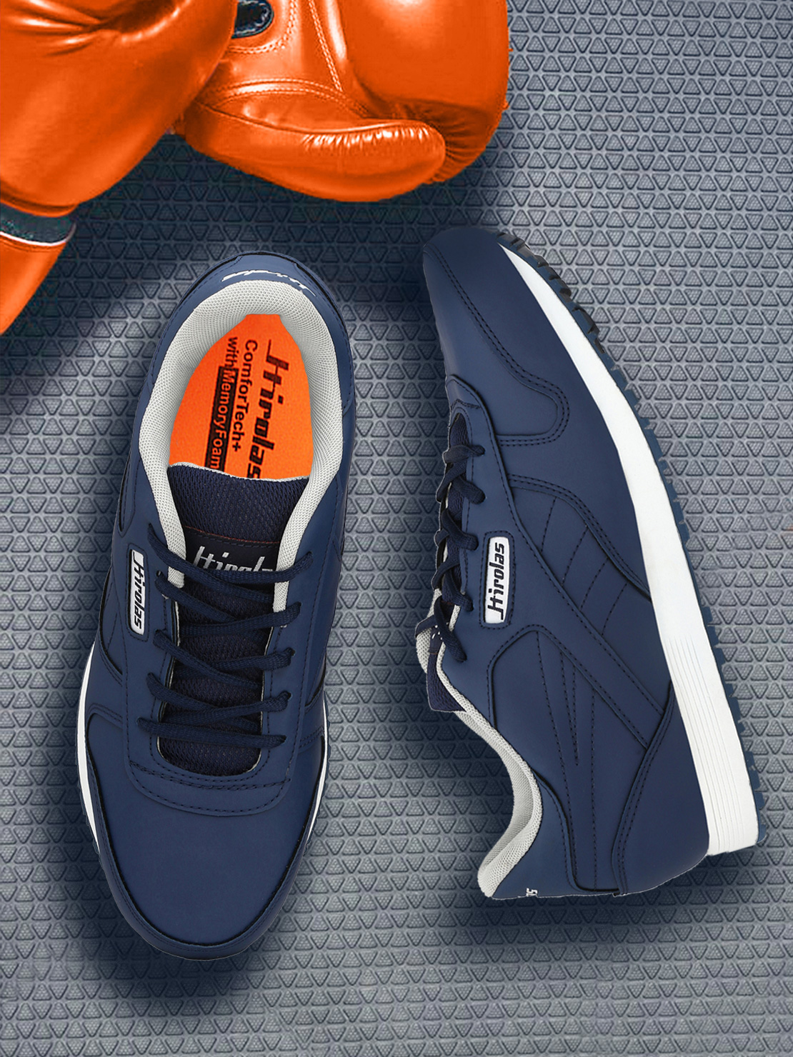 Hirolas   Hirolas Multi Sport Shock Absorbing Walking  Running Fitness Athletic Training Gym Sneaker Shoes - Blue