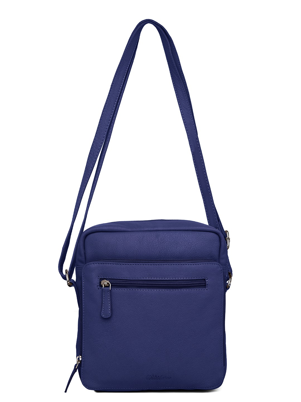 WildHorn   WildHorn Upper Grain Genuine Leather Ladies Sling, Cross-body, Hand Bag with Adjustable Strap - Blue