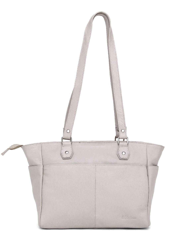 WildHorn | WildHorn Upper Grain Genuine Leather Ladies Tote, Shoulder, Hand, Shoulder Bag - Off White