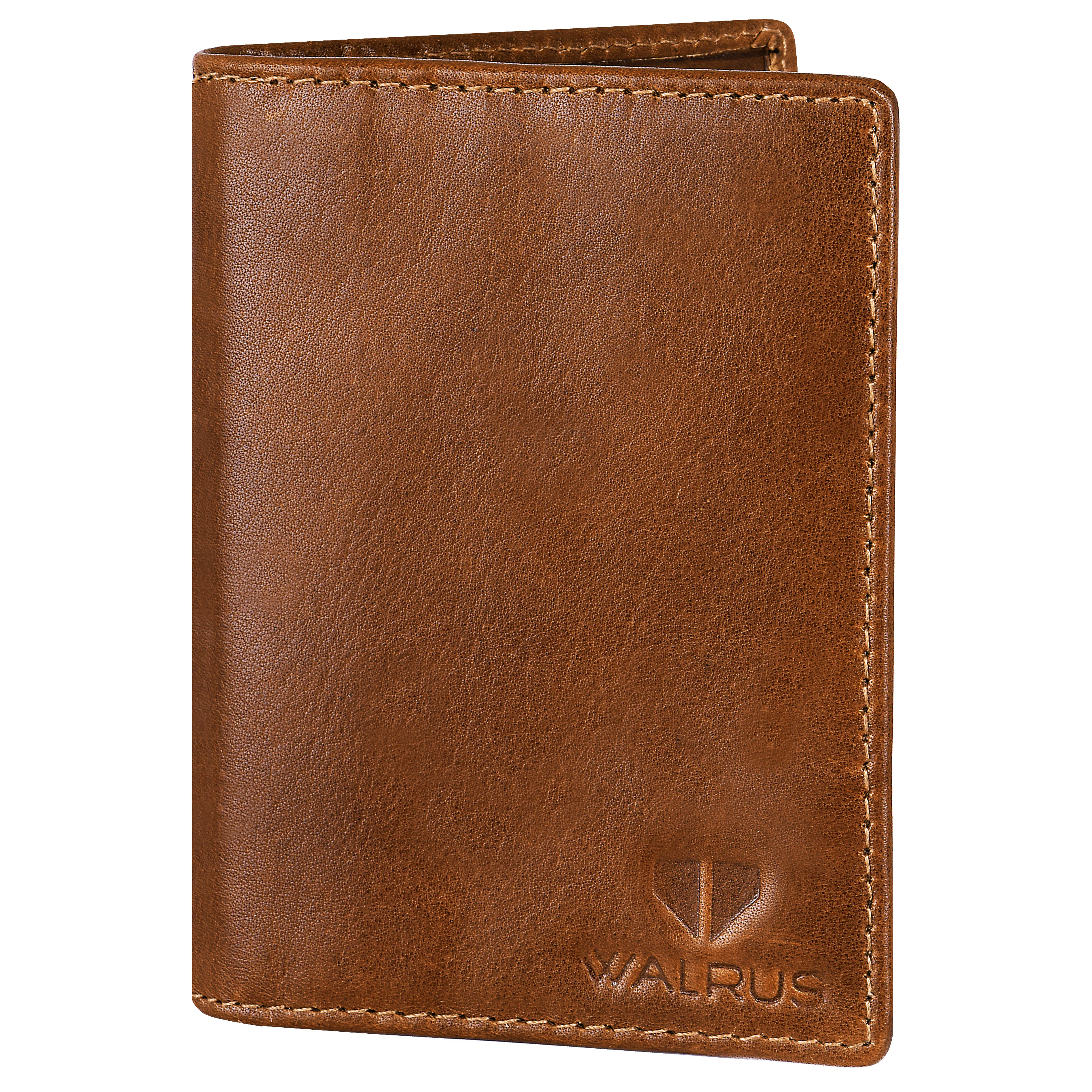 Walrus | Walrus Elite Tan Genuine Leather Card Holder With RFID Protection.