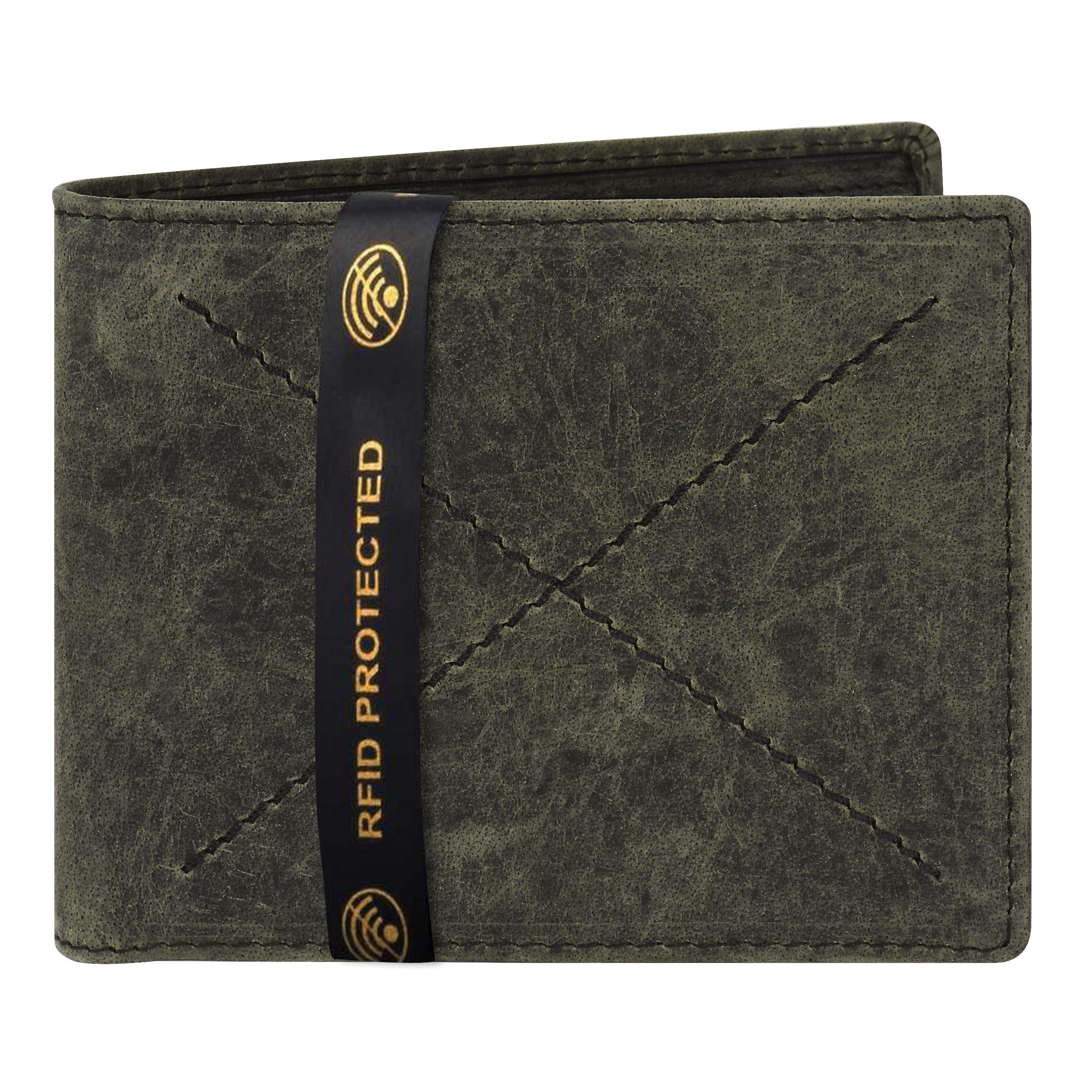 Walrus | Walrus Elite II Black Premium Genuine Leather Men Wallet With RFID Protection.