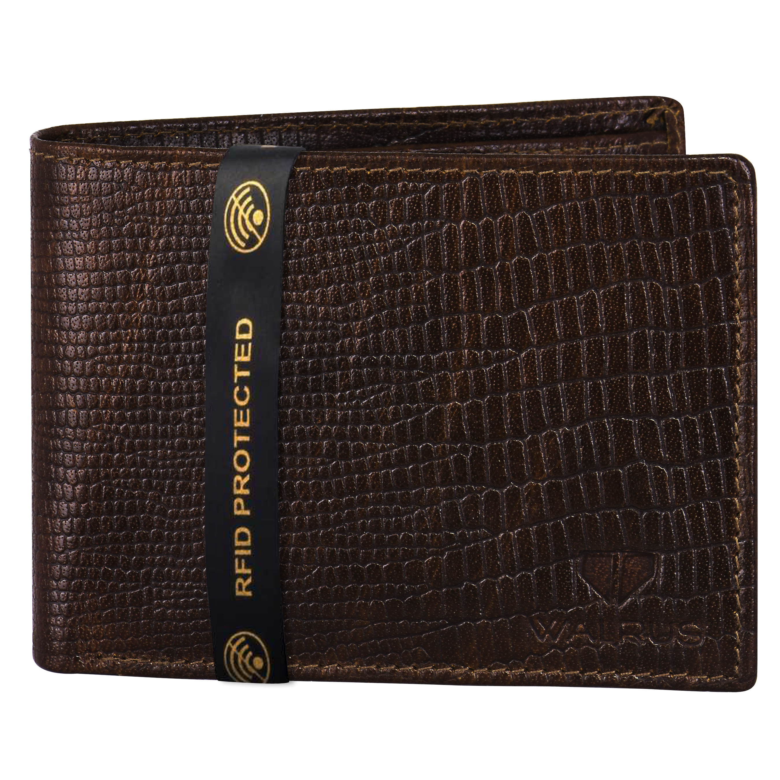 Walrus | Walrus Elite IX Brown Premium Genuine Leather Men Wallet With RFID Protection.