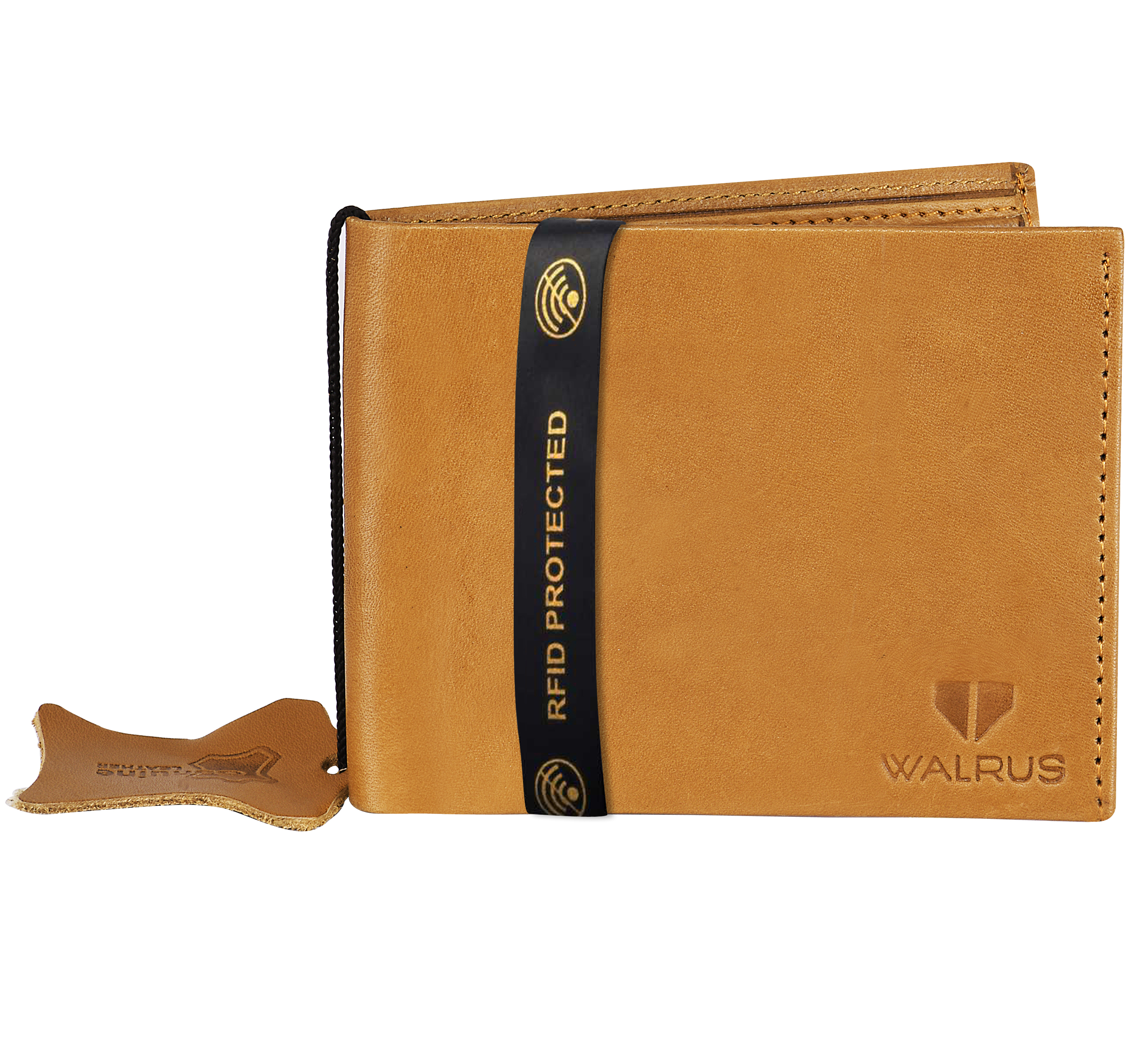 Walrus | Walrus Imperial III Beige Vegan Leather Men Wallet With RFID Protection.