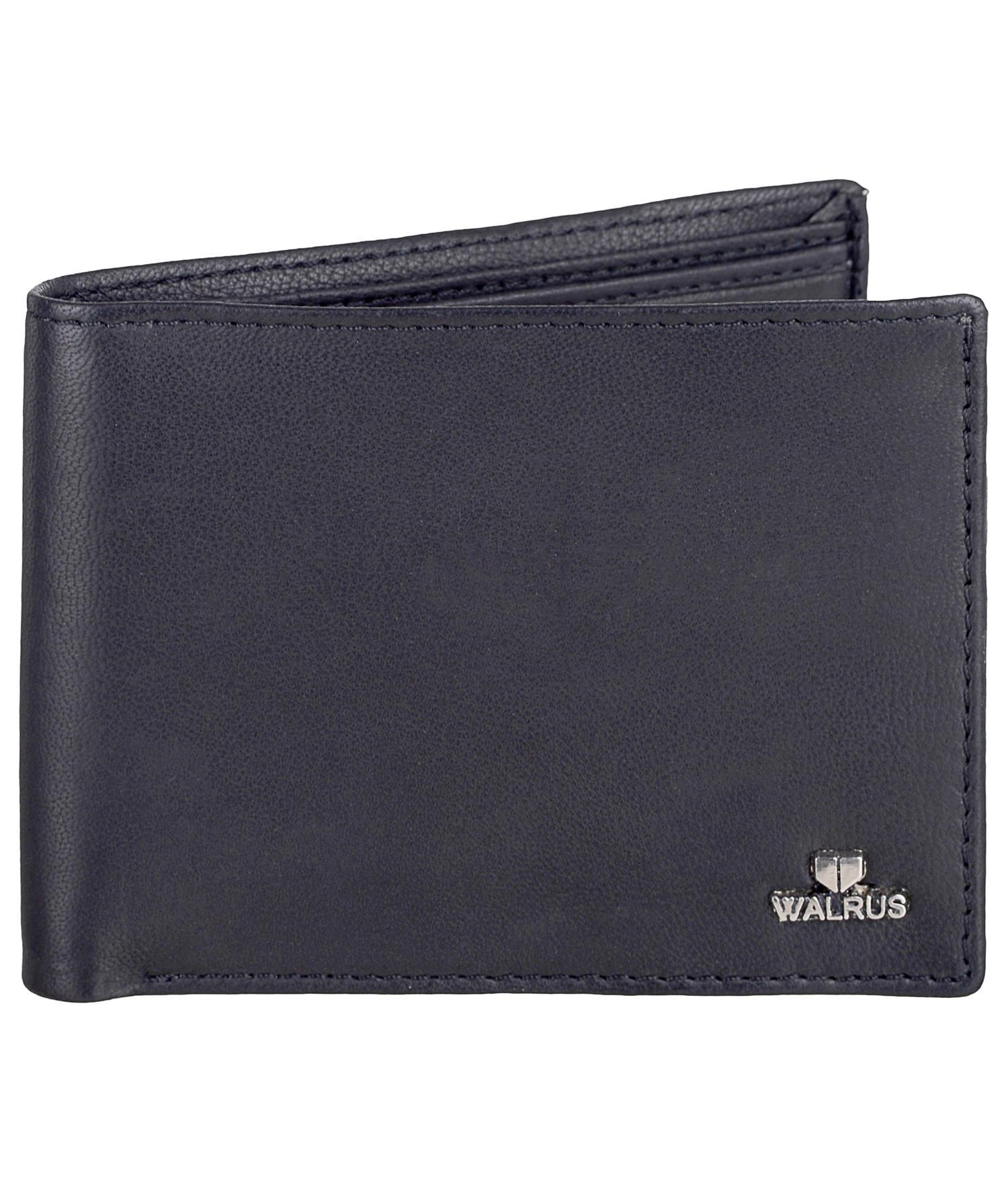 Walrus | Walrus Soft Black Vegan Leather Men Wallet.